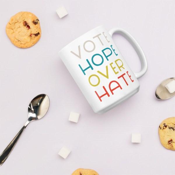 15oz vote hope mug with cookies