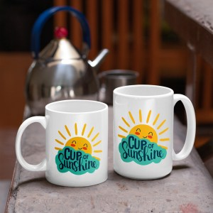 cup of sunshine mug in two sizes