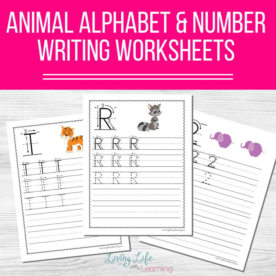 Animal Alphabet And Number Writing Worksheets