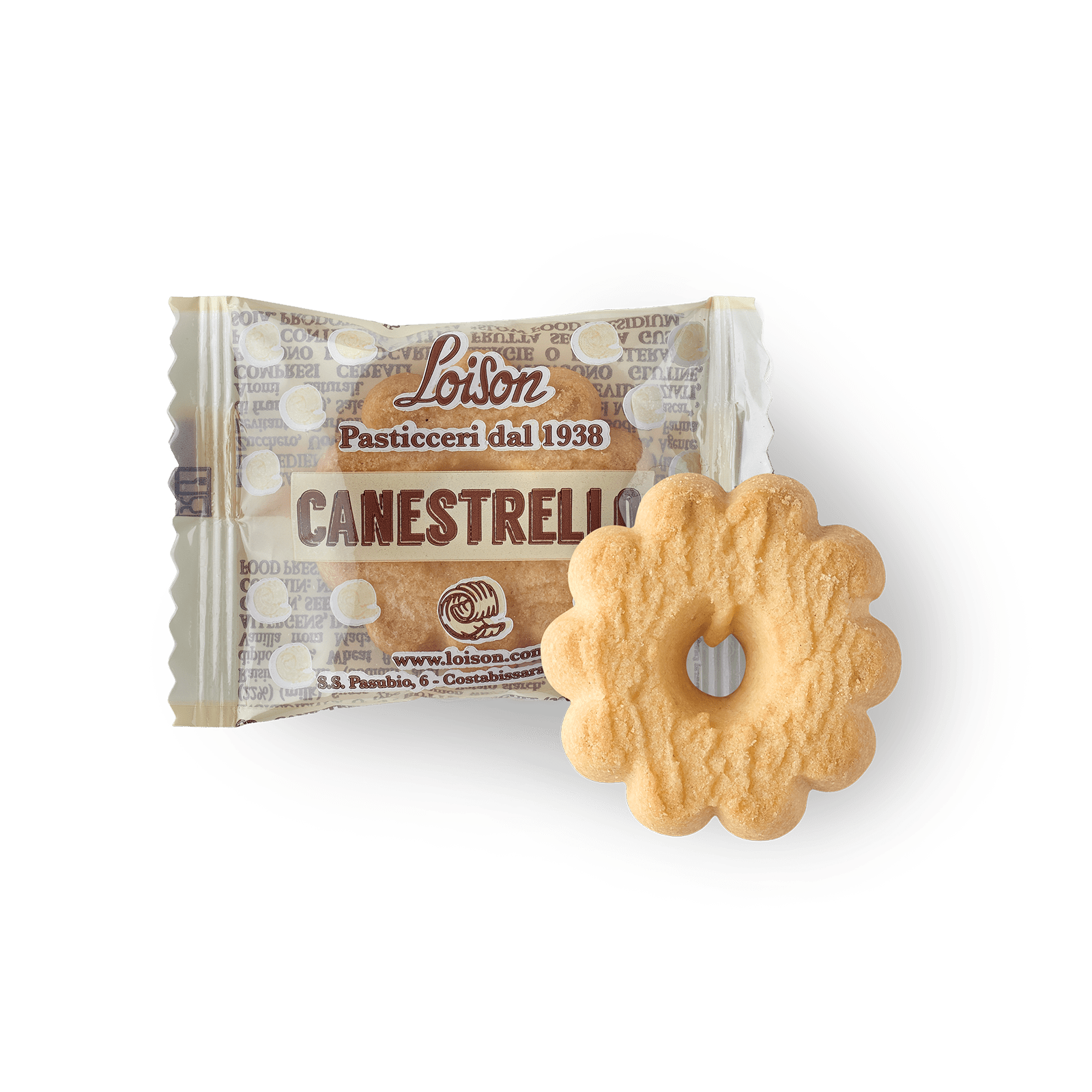 Canestrello biscuit individually wrapped Loison