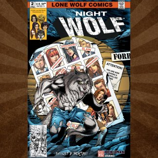 Night Wolf Issue 2 cover D by Sean Forney 11x17 poster