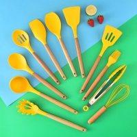Yellow silicone Kitchen Utensil
