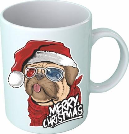 """""""Christmas pug"""" - Чаша"""