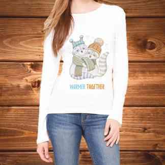 """""""Warmer Together"""" - Дамска тениска с дълъг ръкав"""