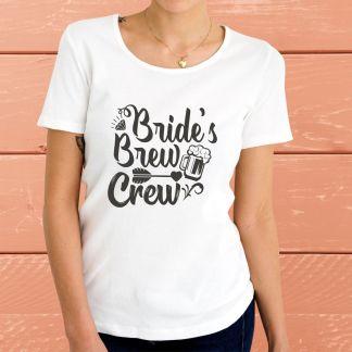 """Bride's Brew Crew"" - Дамска тениска"