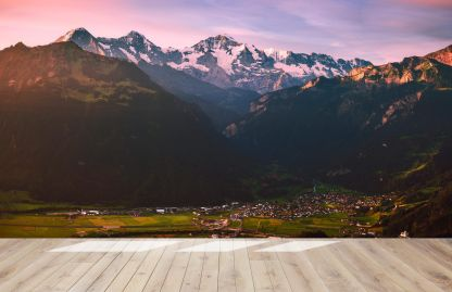 Алпите - Фототапет - Макет в празна стая