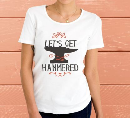 Let's get hammered - Дамска тениска