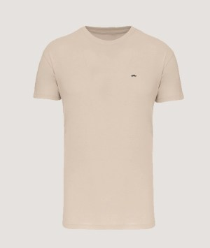 T-shirt BIO150 col rond homme - Light sand