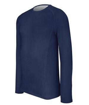 T-SHIRT DOUBLE PEAU LONGUES MANCHES - Bleu