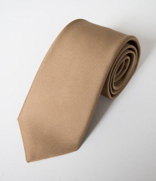 Cravates satin côtelée mordorée