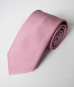 Cravate en satin vieux rose
