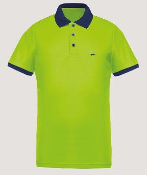 Polo maille piquée Cool Plus - Lime/Navy