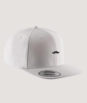Casquette visière plate - White/white