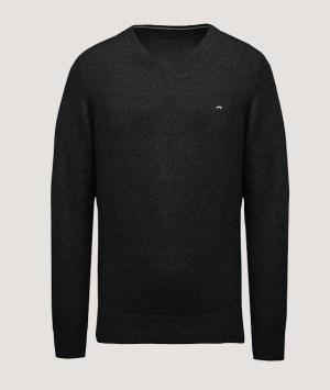 Pullover premium col V - Black