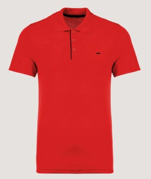 Polo maille piquée MC - Red / Black