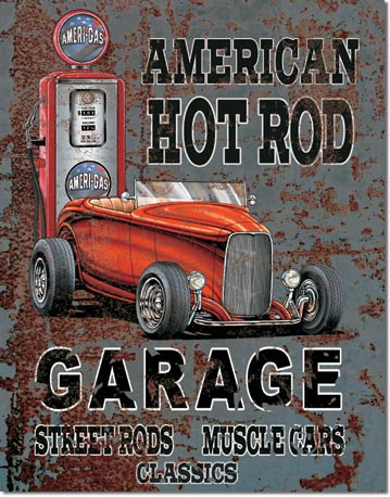 plaque publicitaire decoration americaine vintage usa hot rod