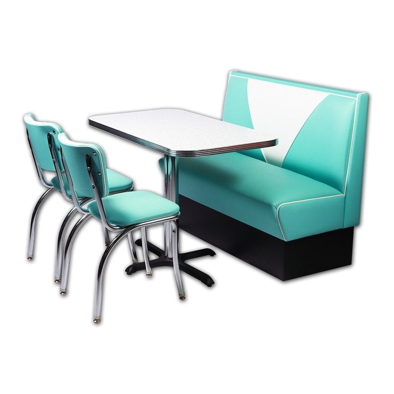 set de cuisine banquette et chaises vintage