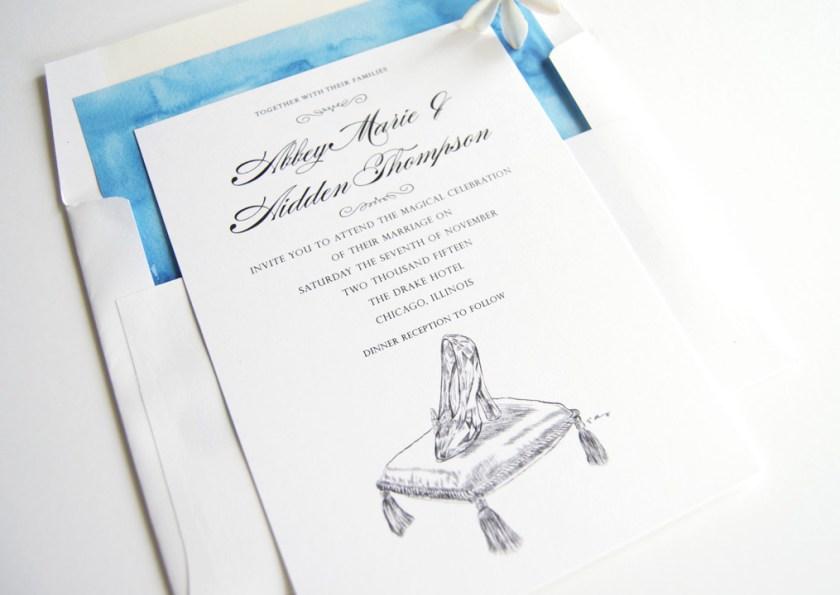 Disney Cinderella S Gl Slipper Fairytale Wedding Invitations