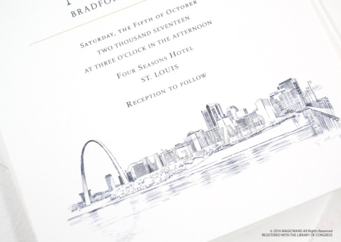 St Louis Skyline Wedding Invitations