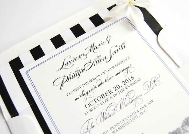 Washington Dc Skyline Wedding Invitations