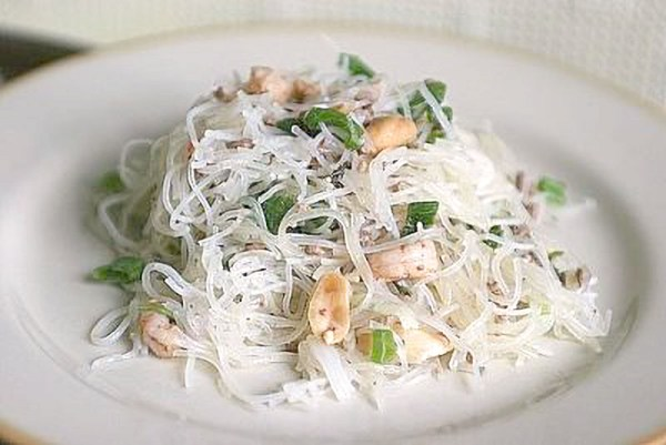 Salade vermicelles crevettes - Plats a emporter Mango-fusion Schiltigheim