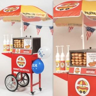 Chariot HotDog Little Corner Manhattan Hot Dog