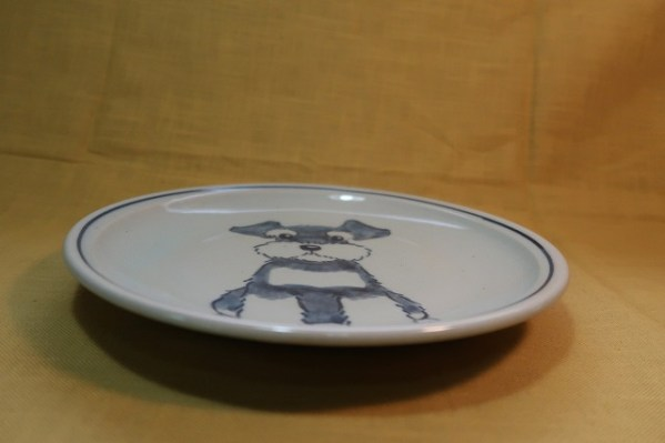 20cm皿 シュナウザー