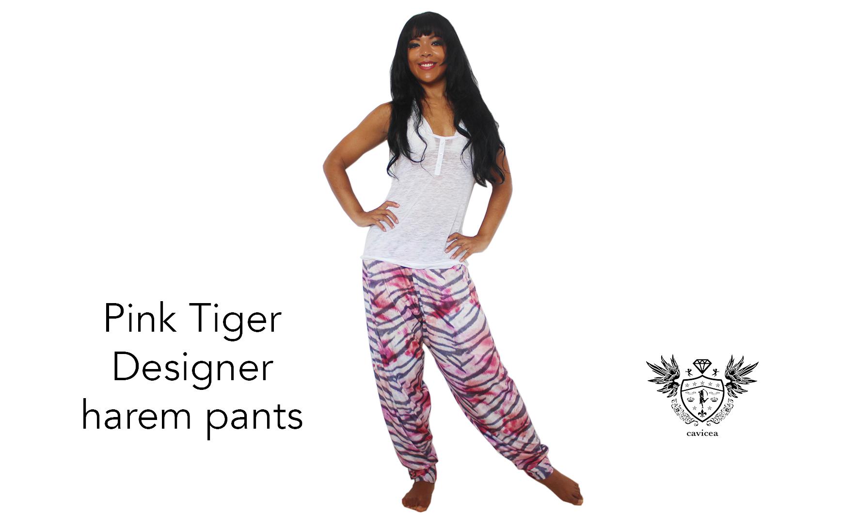 Pink Tiger Designer Harem Pants