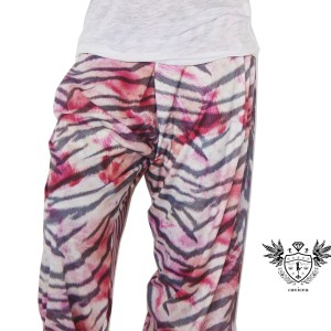 PINK TIGER HAREM PANTS CLOSE