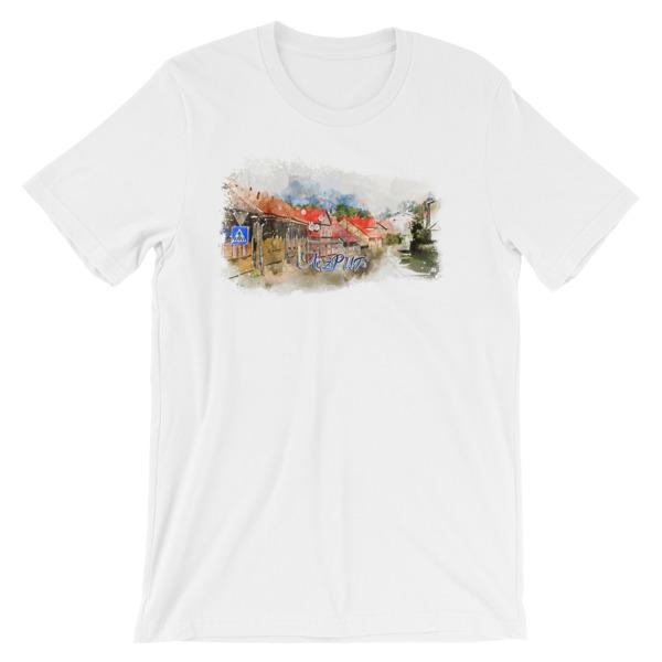 Aizpute - Kuldīgas iela Short-Sleeve Unisex T-Shirt