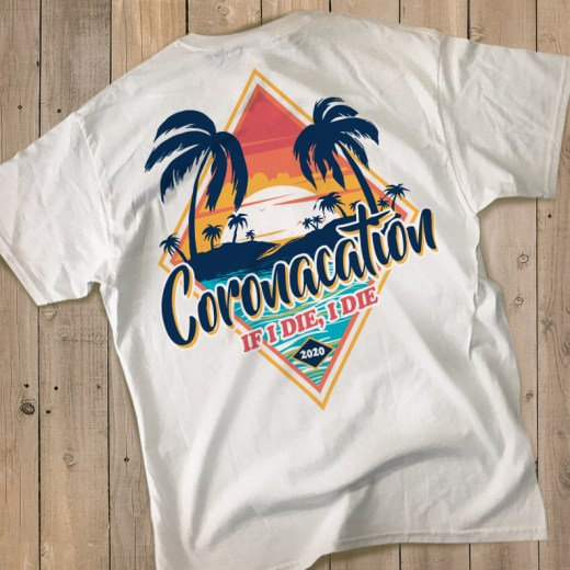 Coronacation Shirt Tropical Back