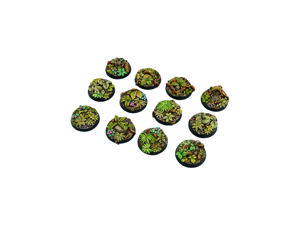 Jungle Bases Round 25mm 5