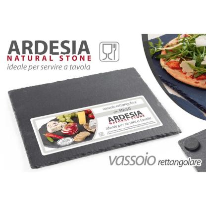 749766 OSE/VASSOIO ARDESIA CM 50*30 50X30