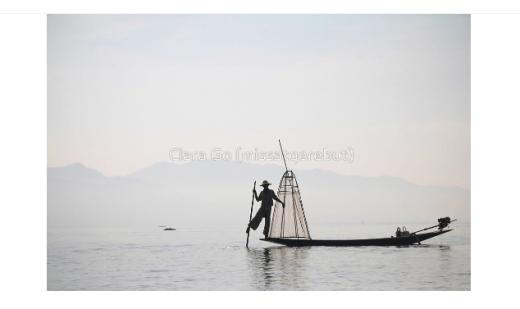 El llac Inle a Myanmar té bells paisatges d'aigua amb els pescadors locals que utilitzen els seus mètodes de pesca tradicionals amb els peus.