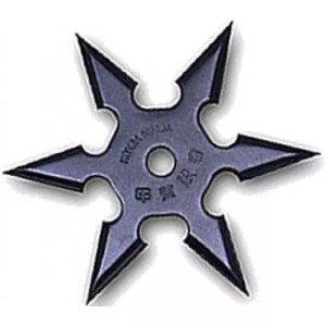 6-point Throwing Star, Black-0