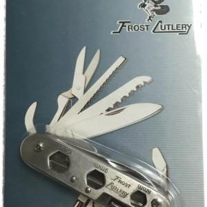 Stainless pocket multi-tool 18-in-1