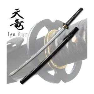 Ten Ryu Handmade Samurai Sword with Musashi Design-0