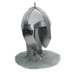 Chain Mail Medieval Helmet-0