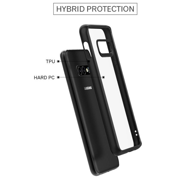 Samsung S10 Lite,S10,S10 Plus Case Soft Silicone Frame Hard PC Transparent Cover