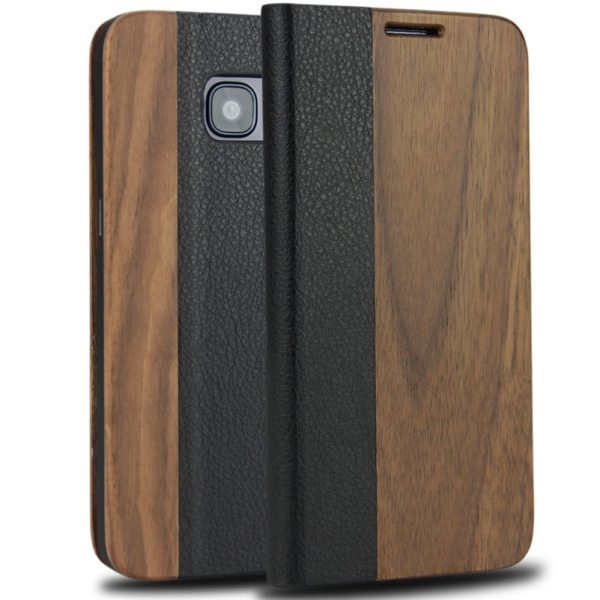 Samsung Galaxy S8,S7 edge,S9 Plus,iPhone 7,8 Plus Natural Real Wood Phone Cover with Stand