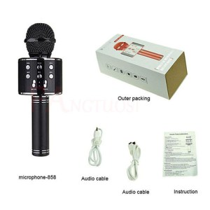 Bluetooth Wireless Microphone WS-858 Handheld Karaoke Mic USB