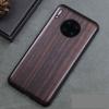 Huawei Mate 30, Mate 30 Pro Case Black Ebony Wood Cover Carved TPU Bumper Wooden Case