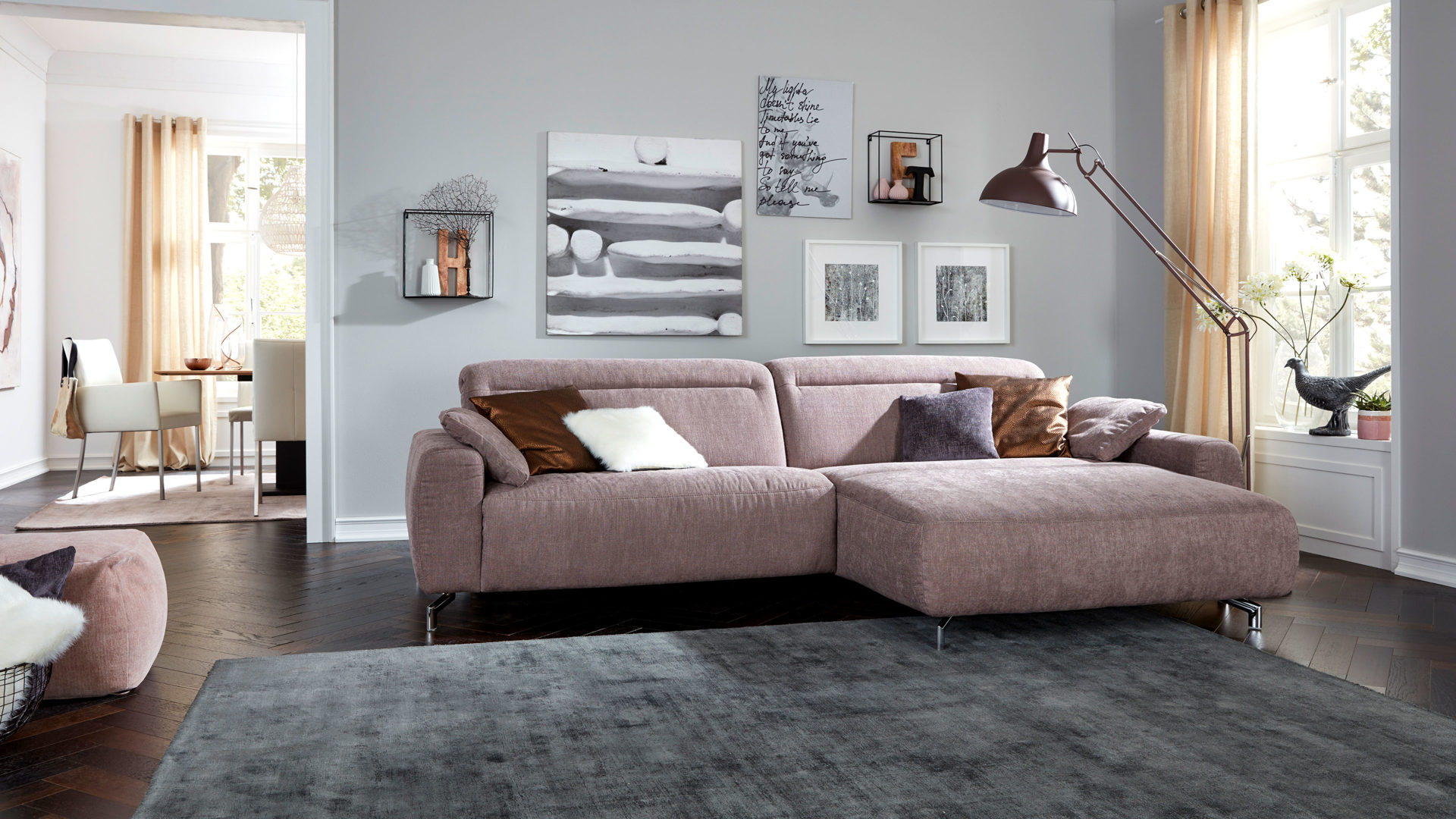 mobel boer coesfeld mobel boer interliving interliving sofa serie 4151 eckkombination lavendelfarbener stoffbezug 635 95 schenkelmass ca