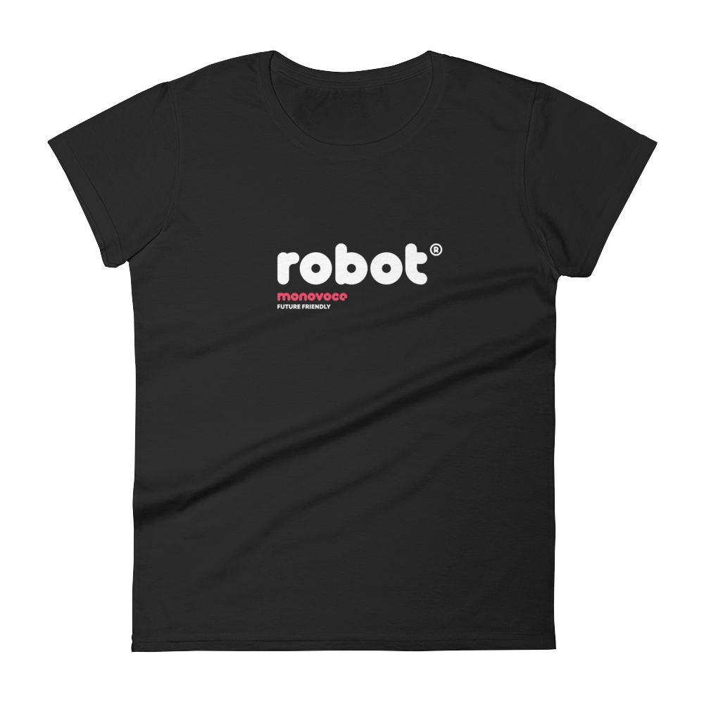 Robot t-shirt for women in black