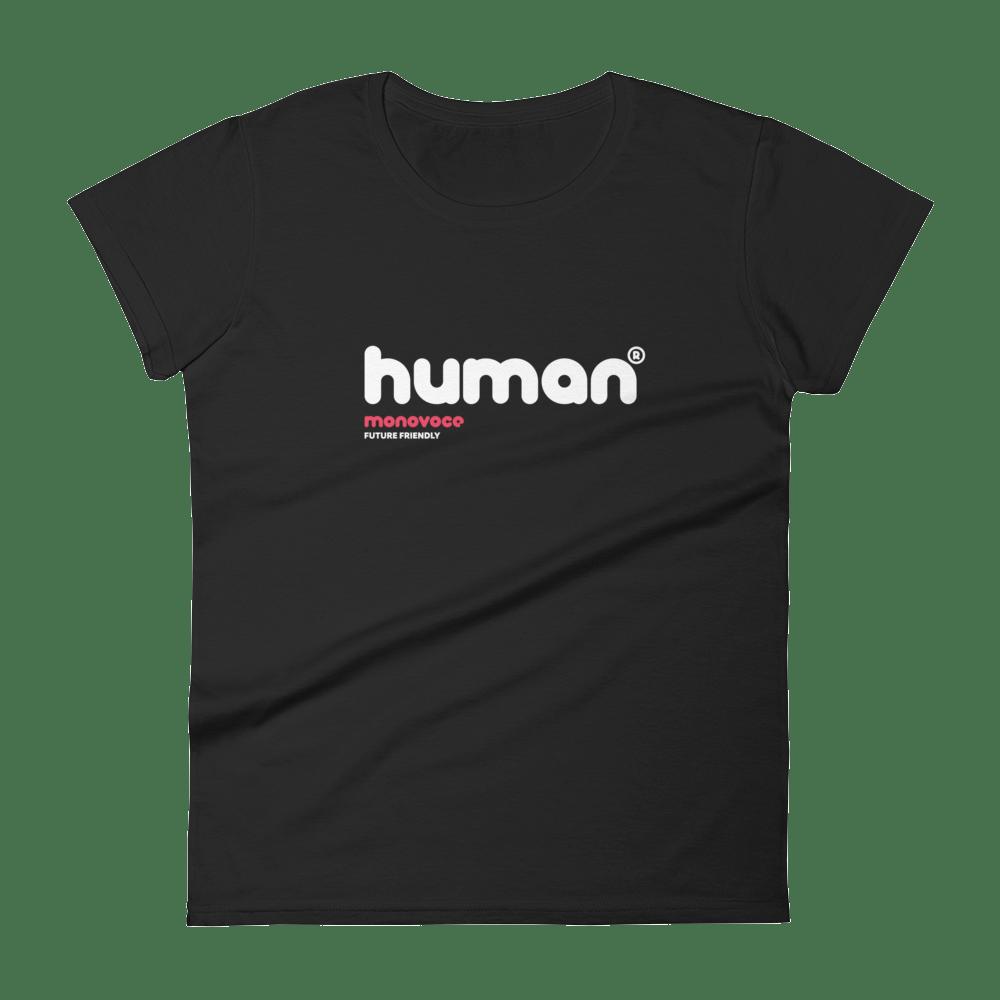 Human t-shirt for women in black
