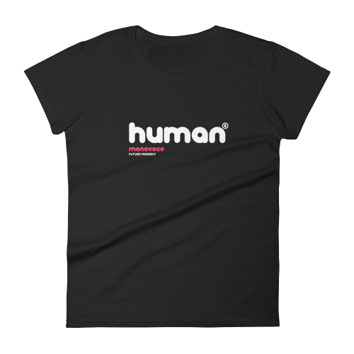 Human t-shirt for women in black