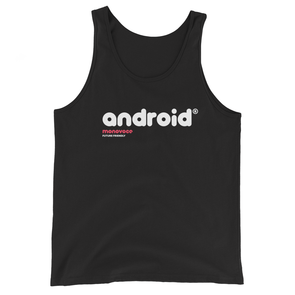 Android tank top for men in black