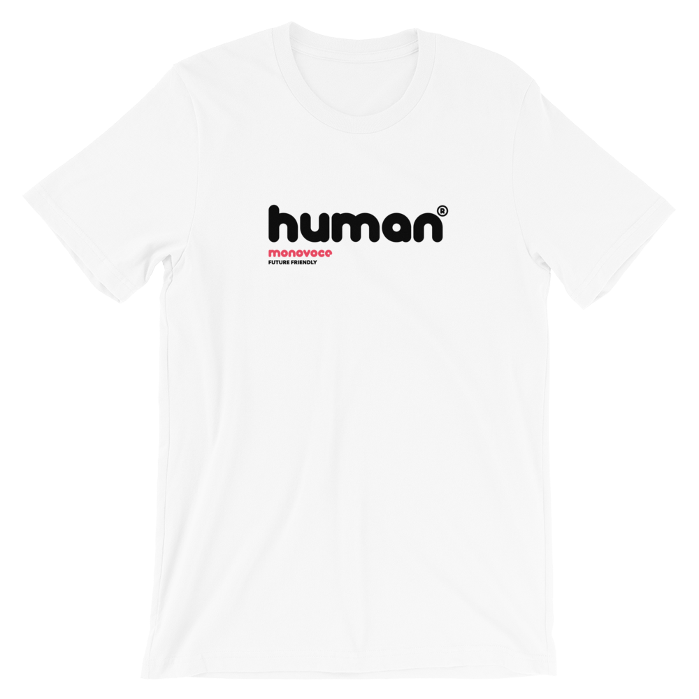 Human t-shirt for men in white