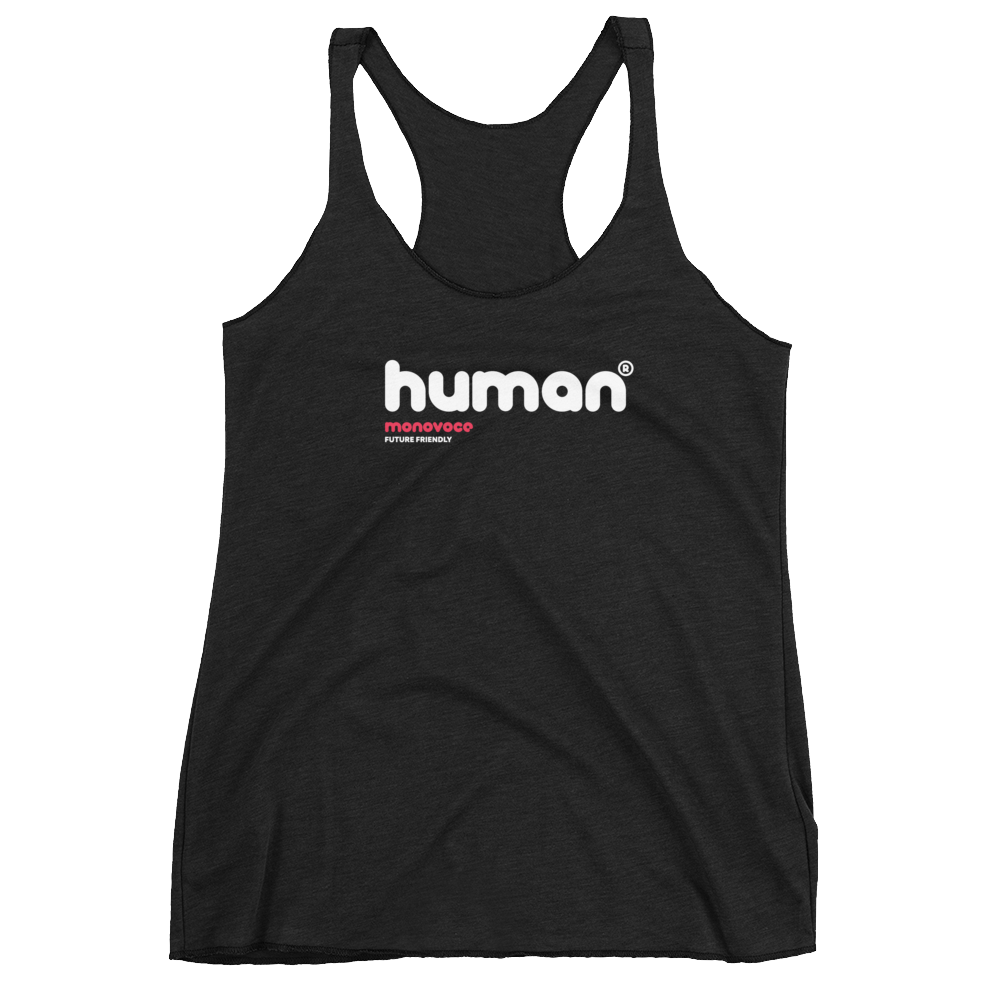 Human tank top for women in black