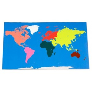 Large Floor World Map With this Large World Map Rug children can     Large floor World map  180x110cm  Montessori colours